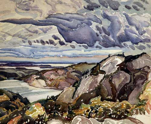 Franklin Carmichael, Untitled (La Cloche Area Landscape), 1940. From the University of Lethbridge Art Collection. Gift of an anonymous donor, 2002.