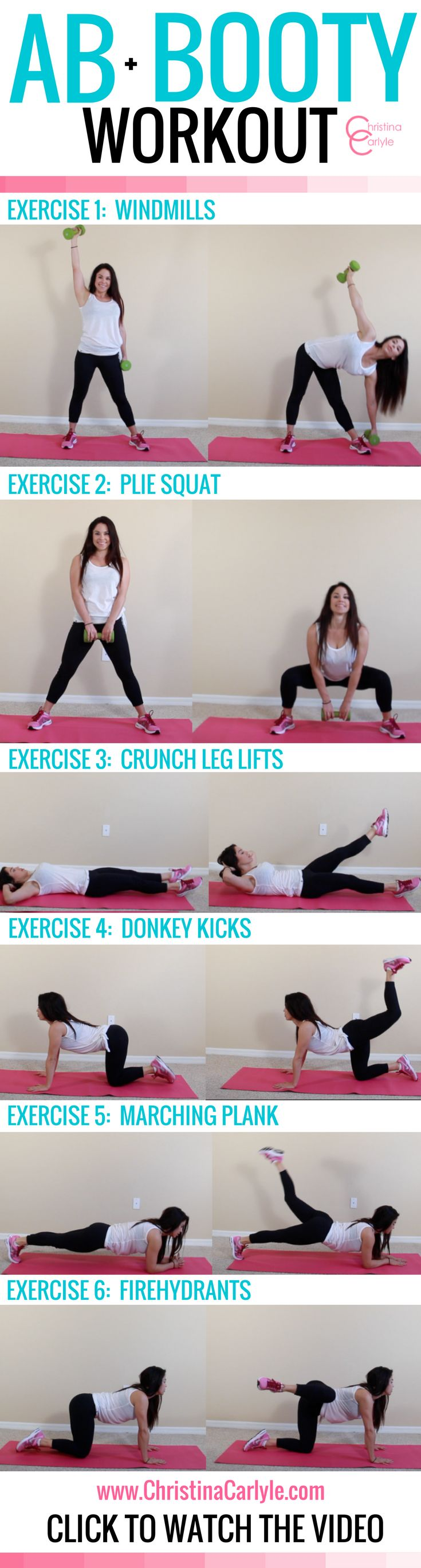ab + booty workout - Christina Carlyle