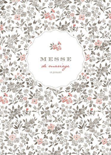 Livret de messe de mariage A cup of tea by Tomoë pour Rosemood.fr #rosemood #atelierrosemood #wedding