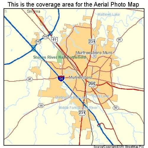Aerial Photography Map Of Highlands Ranch Co Colorado: Murfreesboro, TN Tennessee Aerial