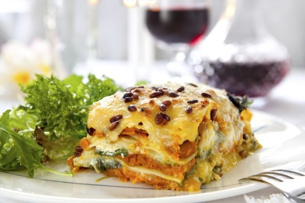 Lasaña vegetariana - Recetas saludables