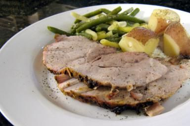 Perfectly Seasoned Mustard Rubbed Pork Loin Roast: Pork Loin with Mustard Rub