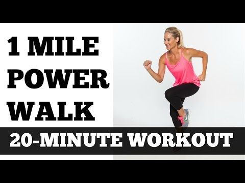 1 Mile Power Walk Full Length Walking Workout Video Low Impact - YouTube