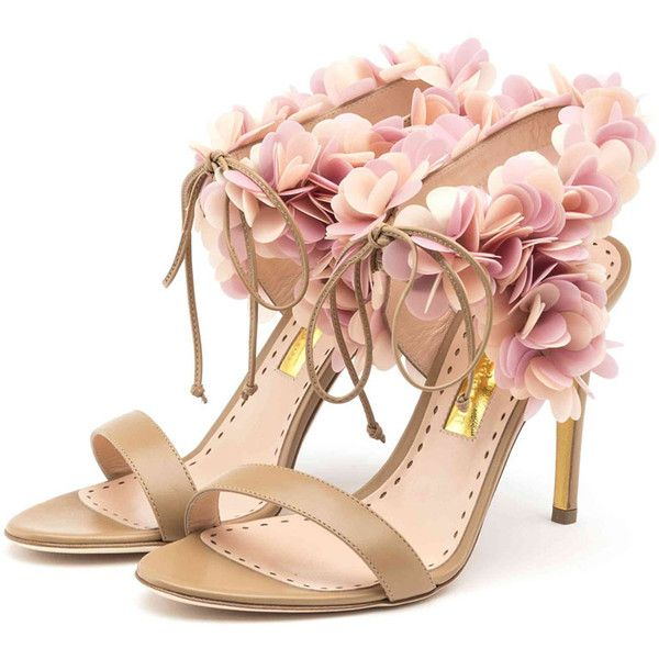 Rupert Sanderson High Heel Ankle Strap Sandals ($1,295) ❤ liked on Polyvore featuring shoes, sandals, heels, high heel shoes, rupert sanderson, heeled sandals, clay shoes and ankle strap sandals