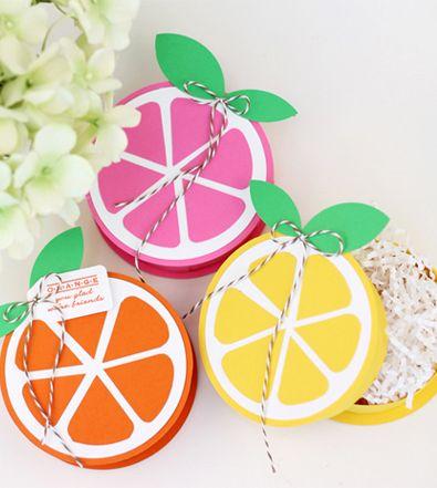 Summery Citrus Favour Boxes
