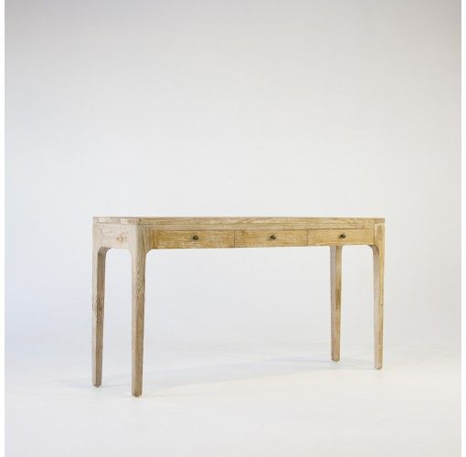 Eclectic Style Borneo Console Table in whitewash 150cm