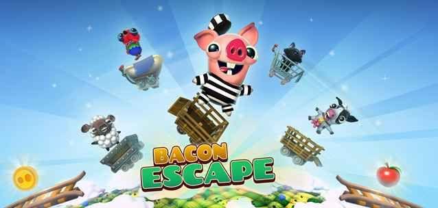 """BACON ESCAPE - un nuovo e divertente runner game per iPhone e Android! Appassionati di runner game ecco """"Bacon Escape"""", il nuovissimo gioco del team Illusion Labs per Android e iPhone!  Nei panni di un porcellino a bordo di un carrello dovrete superare la bellezza di  #videogame #giochi #runnergame #android #ios"""