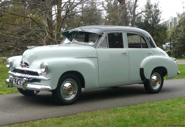 1955 Holden FJ Special Sedan . Model:FJ225. Featured a small 6 cylinder engine with 3 speed column manual gears.