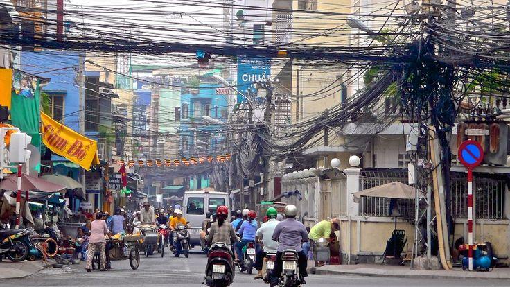 Street scene in HCMC (Saigon), Vietnam in 2012