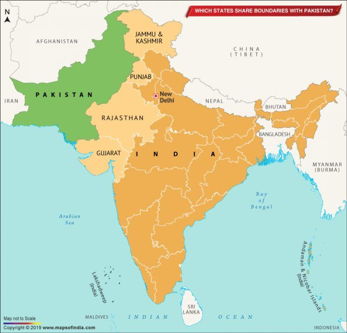 map of afghanistan pakistan and india Map Of India Showing States Which Share Border With Pakistan map of afghanistan pakistan and india