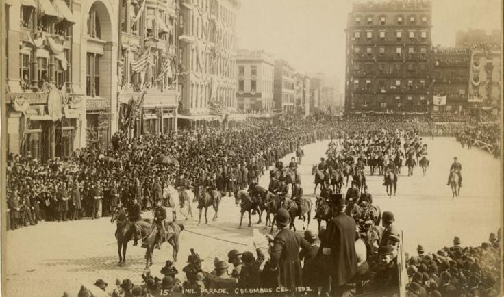 Columbus Day Parade 1892, Columbus Day history, NYC historic parades, Discovery Day