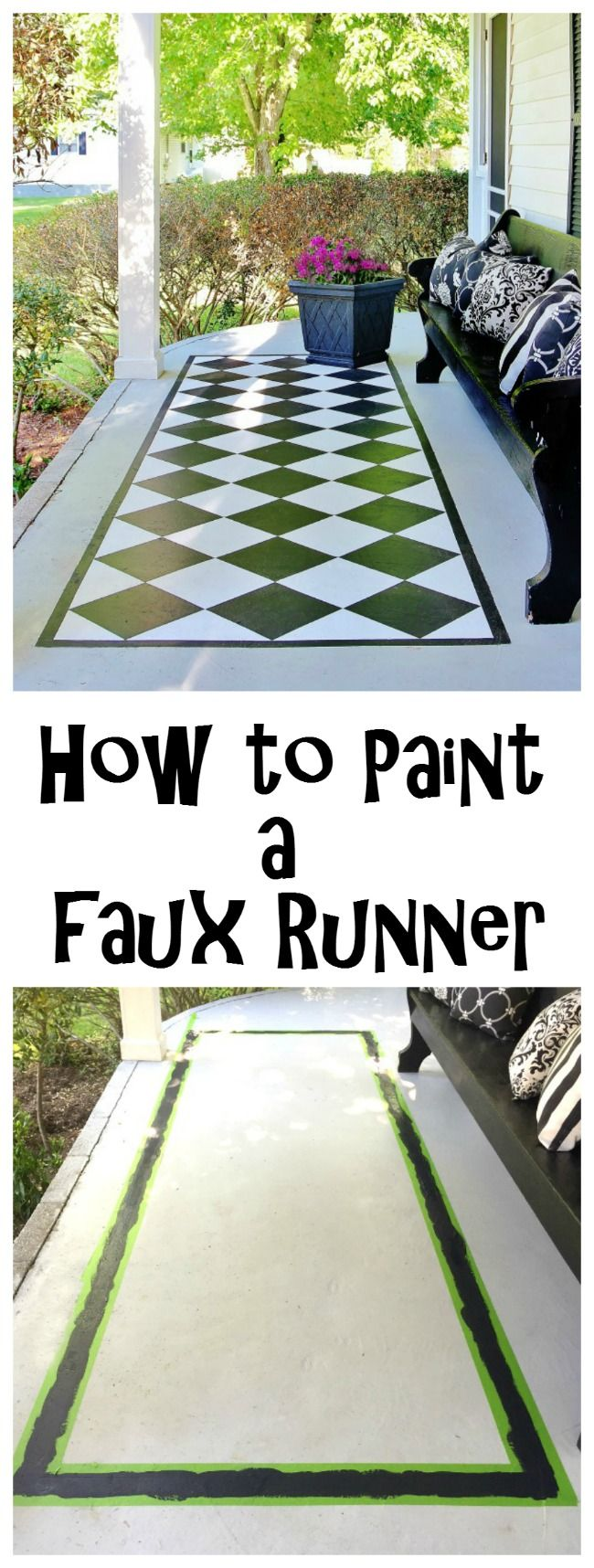 How to paint a faux runner