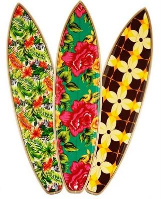 Pranchas de Surf com estampas de Chita -Farm por Dadá Figueiredo