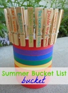 summer BUCKET list... bucket