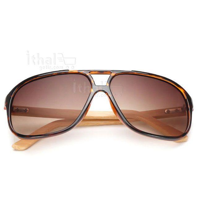 UV400 Korumalı, Gerçek Ahşap Güneş Gözlükleri - IGD090613431 - Vintage Güneş Gözlükleri, Ayna Camlı Güneş Gözlükleri, Bambu Güneş Gözlükleri