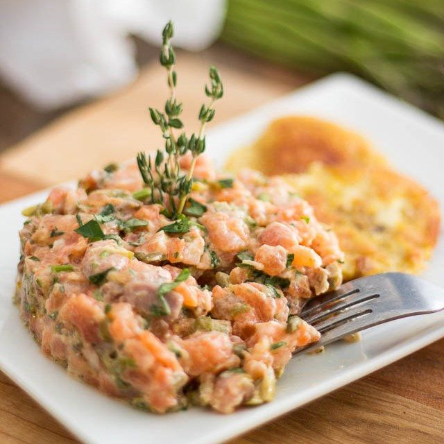 Using both fresh and smoked salmon, this Two-Salmon Tartare is so incredibly tasty, it's bound to become your new ultimate favorite tartare recipe!