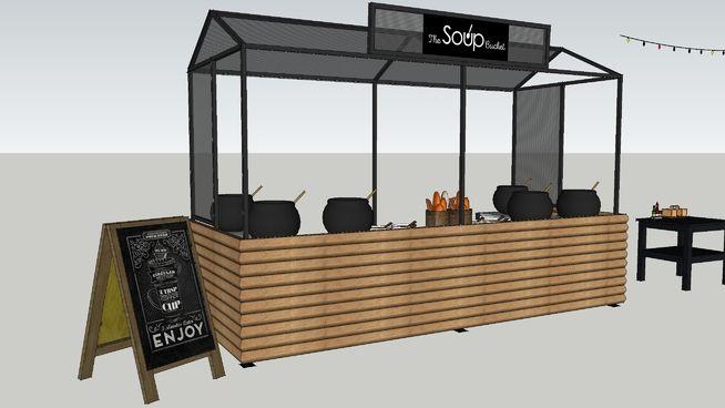 Street food market stall - Soup - 3D Warehouse
