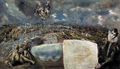 GRECO, ElView and Plan of Toledoc. 1610Oil on canvas, 132 x 228 cmMuseo de El Greco, Toledo
