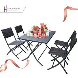 H&L Furniture Wicker Resin Rattan Bistro Set, Parma Style, 5 PCS Set of Foldable Table and Chairs Features ✔ Elegantly designed with Commercial Grade Hand Woven, Lightweight and ultra portable, this set is constructed from a strong yet lightweight steel frame, UV Resistant and powder coated in a rich textured bronze Espresso finish. ✔ Each […]