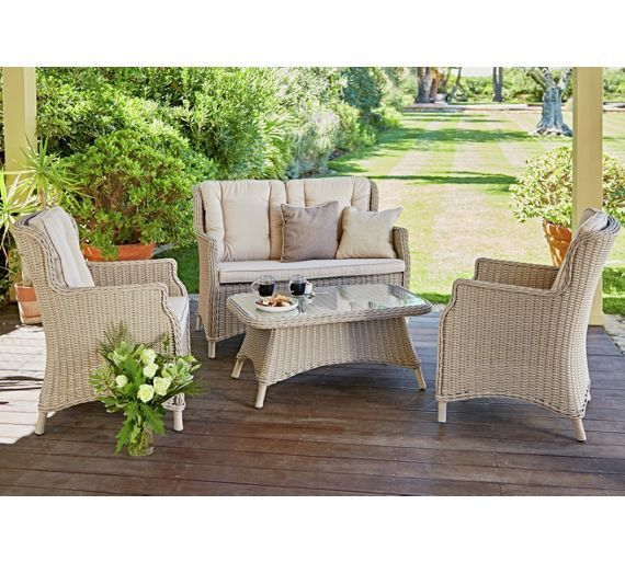 buy heart of house argenta rattan effect 4 seater sofa set at argosco garden table and chairstable - Garden Furniture 4 All