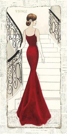 Elegance Diva II - Birinci Sınıf Giclee Baskı - Emily Adams AllPosters.com.tr'de.