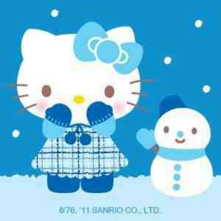 Winter kitty hello pinterest and