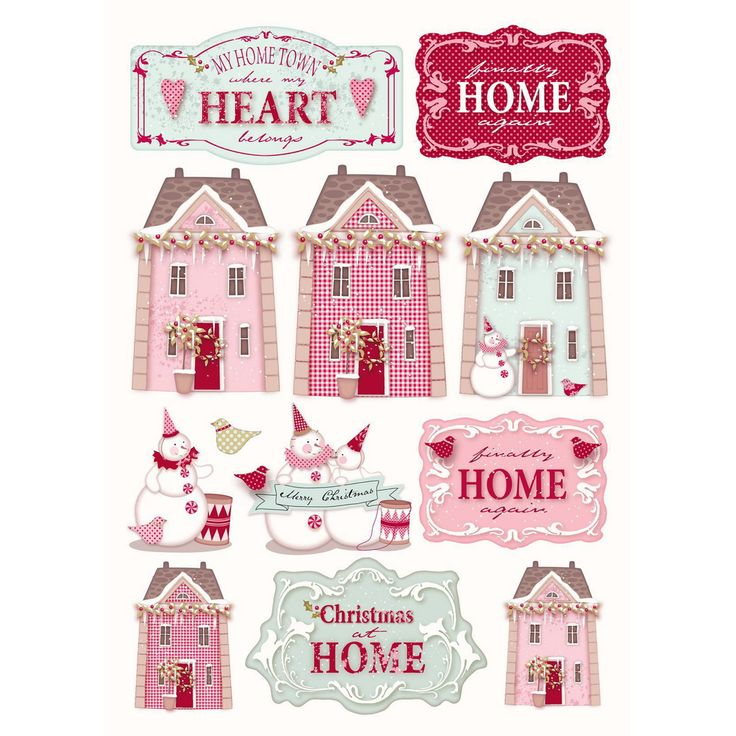 tilda paper cutouts | cut out 4 pcs xmas village £ 3 49 comment 21 decoupage papers a4 ...