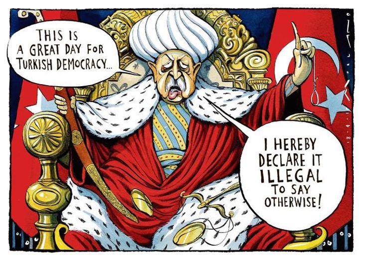 Dış basından karikatürlerle Türkiye'nin 'başkanlık' seçimi.