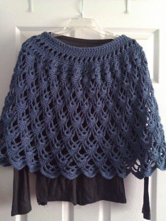 poncho crochet pattern free | found this free pattern on ravelry crochetville http www crochetville ...