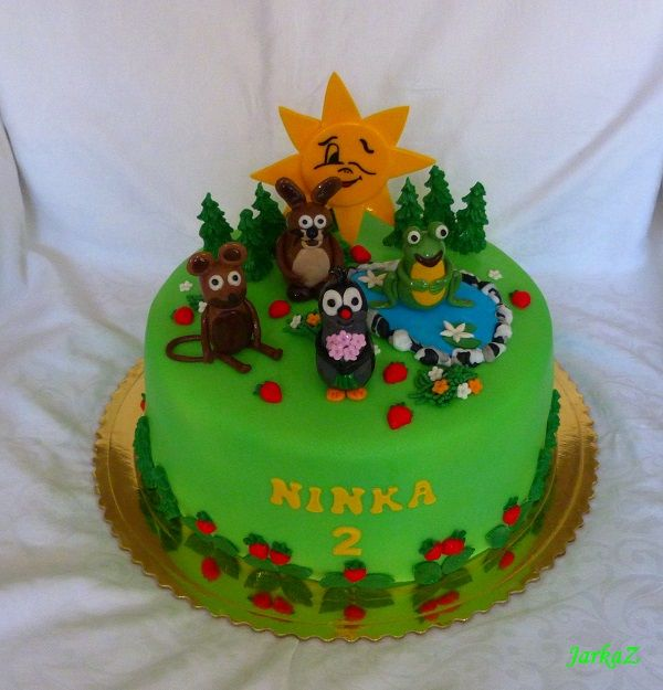 Cake - Little Mole and his friends - krtko a jeho kamaráti