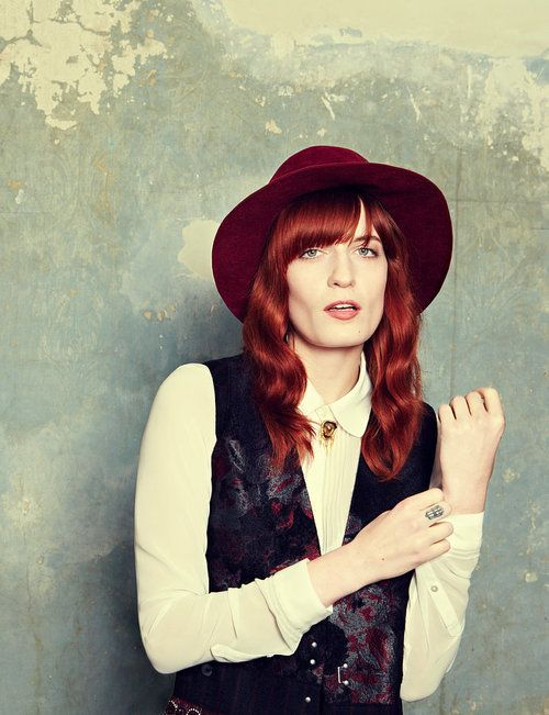 Florence Welch. I have a thing for red haired girls. The girl I love has auburn hair...