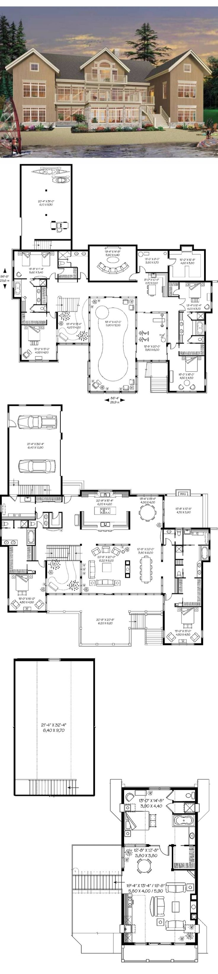 81 best two master suites images on pinterest dream home plans