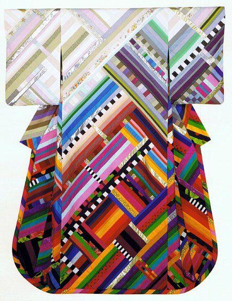 Vintage kimono by Yvonne Porcella. #colour #pattern.