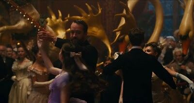 Screen capture of Matthew dancing with Clara in the Nutcracker movie...
