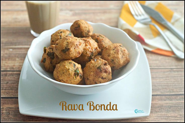 Rava Bonda | Crispy Semolina Dumplings | Sooji Bonda