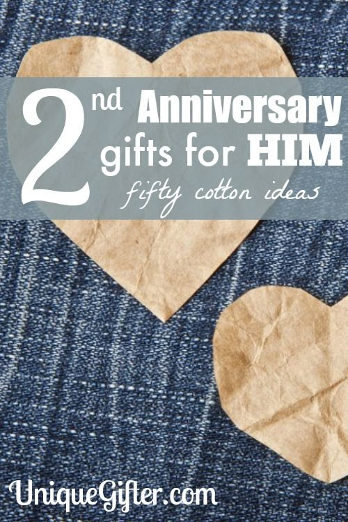 Cotton 2nd Anniversary Gifts For Him Second GiftsCotton Wedding