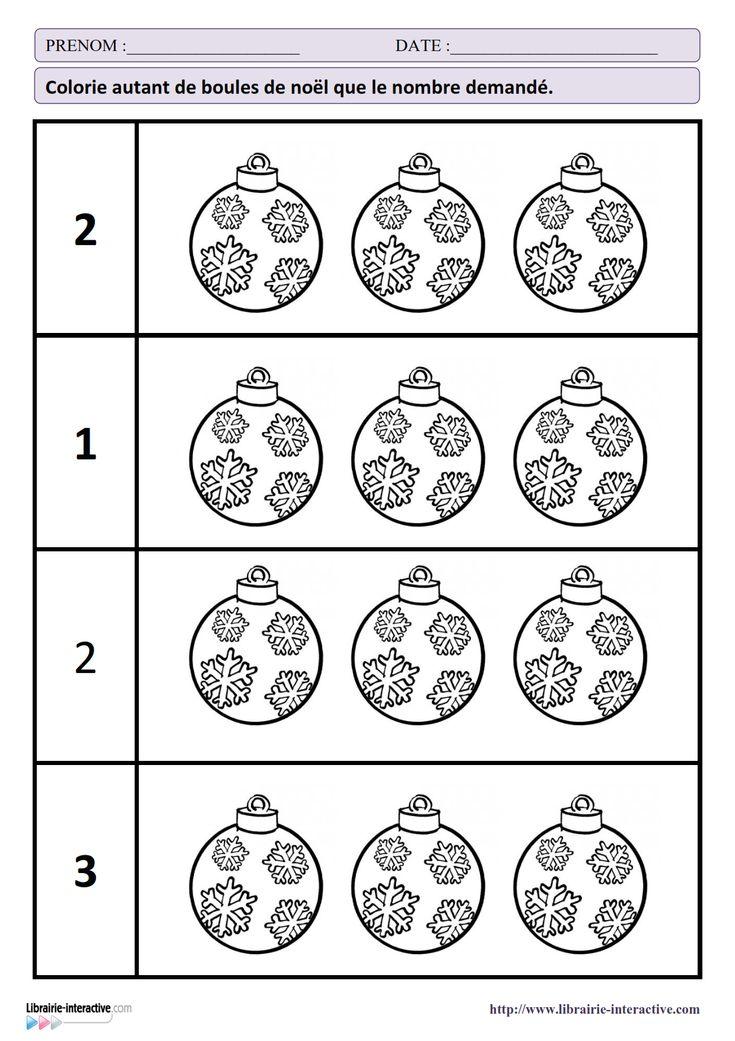 27 fiches d'exercices mathématiques pour la maternelle (PS - MS - GS) autour de la thématique de Noël. Des exercices de numération, de discrimination visuelles, de partage ou encore de repérage dans l'espace.