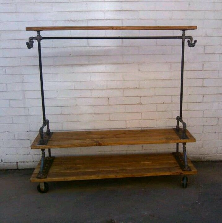 Garment rack With top shelf by RJ Diaz & CO.