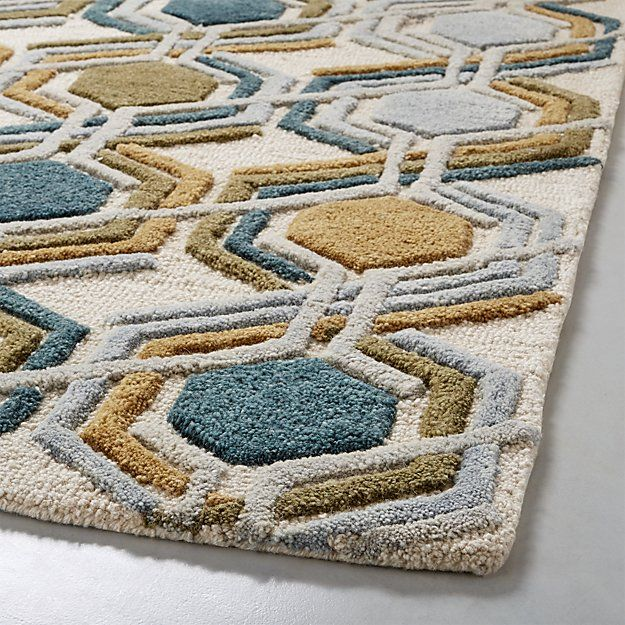 Riesco Mid Century Modern Rug Crate And Barrel Mid Century