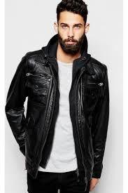 Envío gratis moto chaqueta de cuero delgado para hombre