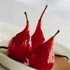 Pears in #Lillet Rouge  Find the recipe and more on our website: http://www.lillet.com