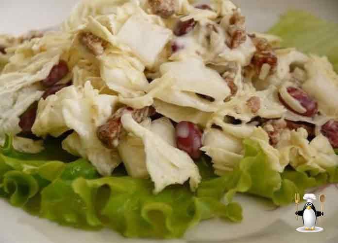 Смотрите Салат из пекинской капусты рецепты с сухариками