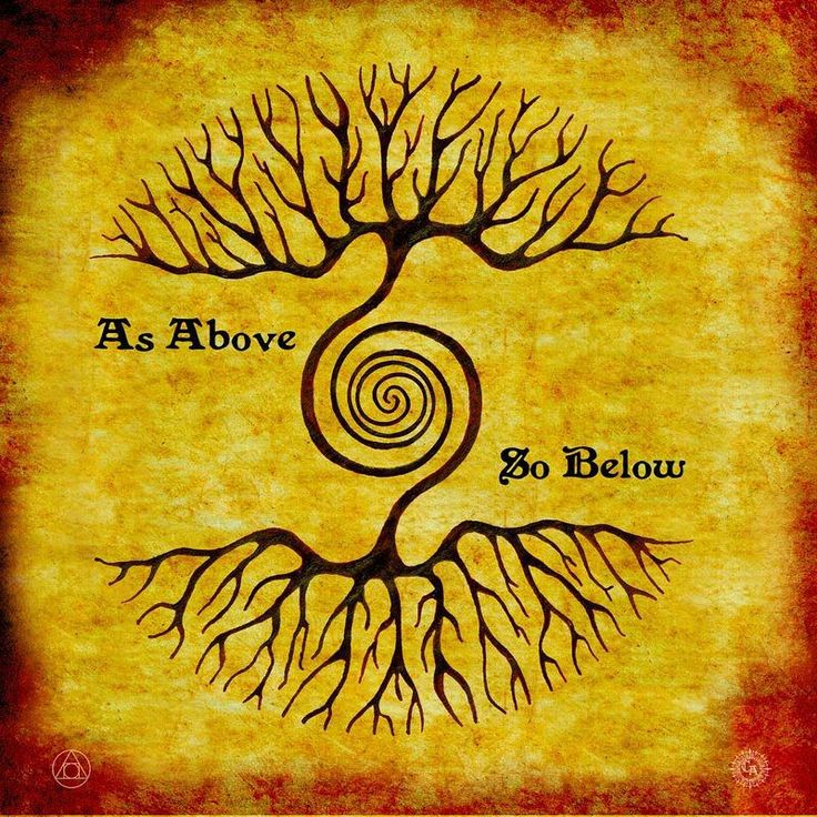 As above so below. As within so without. As the universe