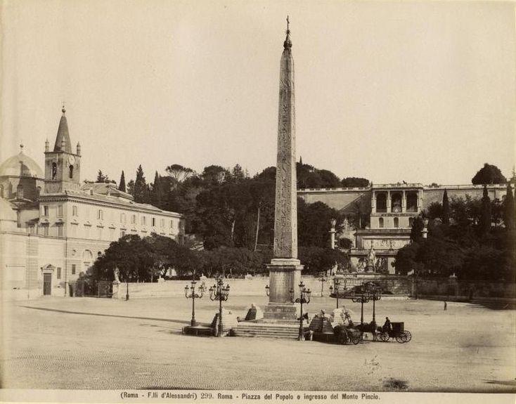 Fratelli D'Alessandri - n. 299 - Roma - Piazza del Popolo e ingresso del Monte Pincio 
