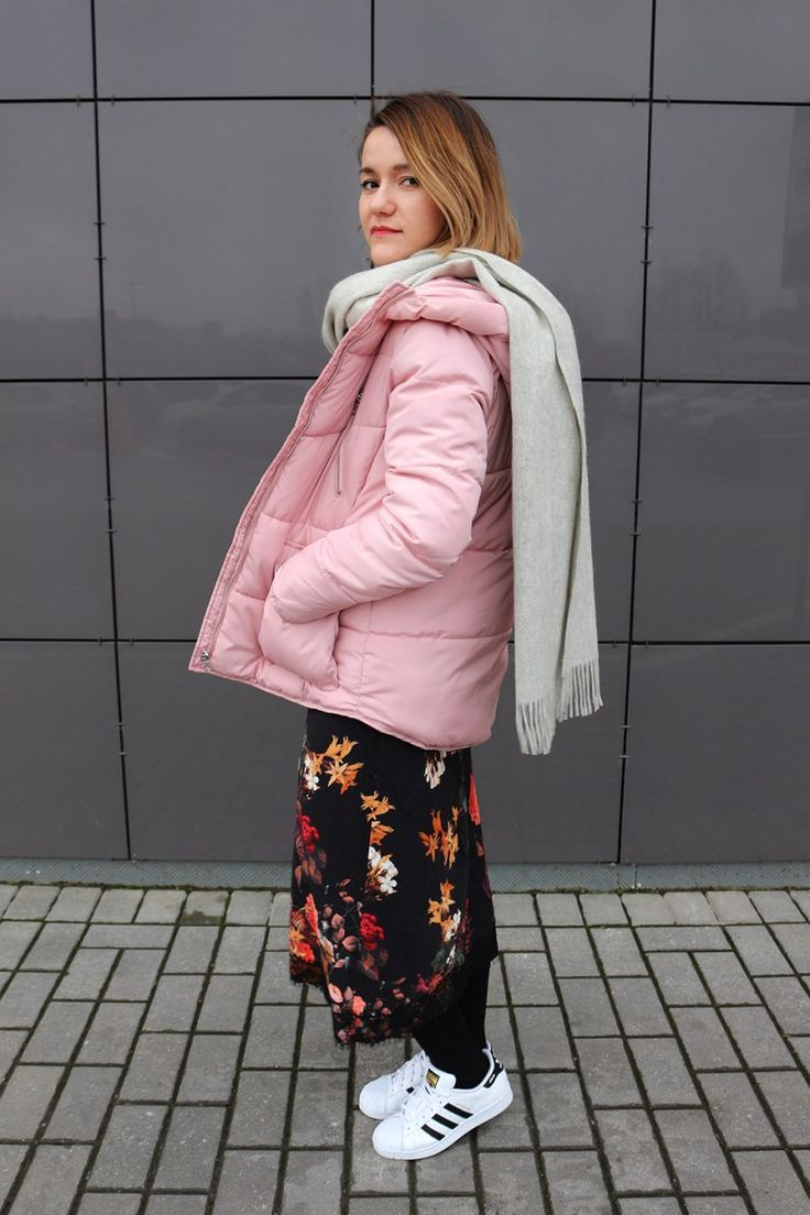 Pink jacket floral dress Burvin and adidas trainers  #wearnissage #wearnissageстиль #wearnissagestyle