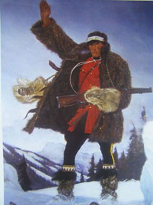 Canadian Mountie RCMP print, A Friberg Blizzard rifle