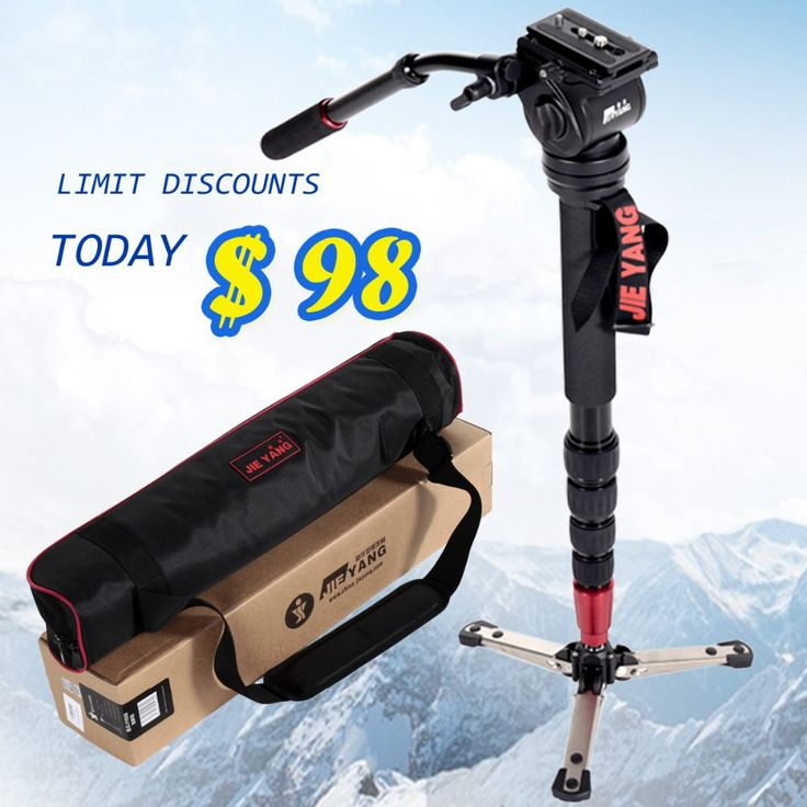 JIEYANG JY-0506 Aluminum Professional Monopod  Video tripod for camera  with Tripods Head Carry Bag  JY0506 //Price: $117.60//     #gadgets