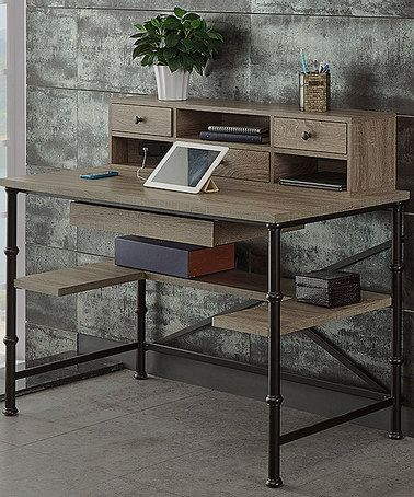 Loving this Rectangle Writing Desk with Hutch on #zulily! #zulilyfinds