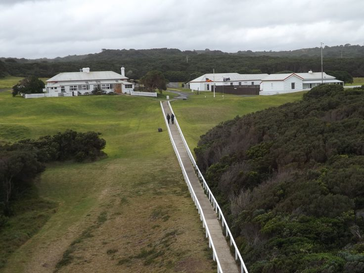 Cape Otway Lightstation: View from the top of Lighthouse