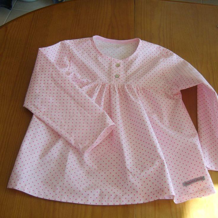tunique pour fillette avec fronces et patte de boutonnage tuto couture enfants sewing for. Black Bedroom Furniture Sets. Home Design Ideas